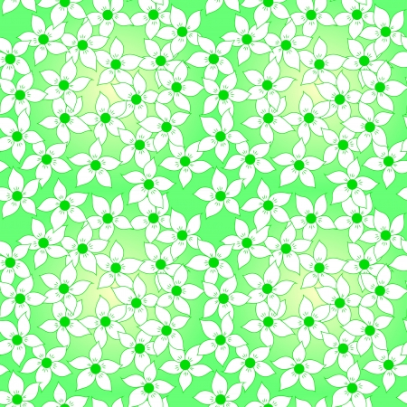 Seamless flower pattern background Vector