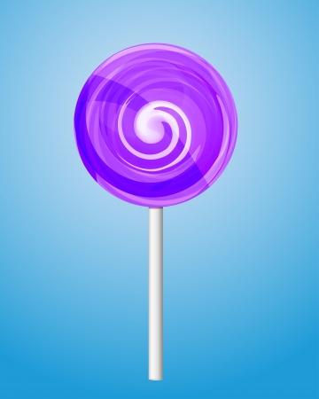 lolipop: Violet candy lolipop  Illustration