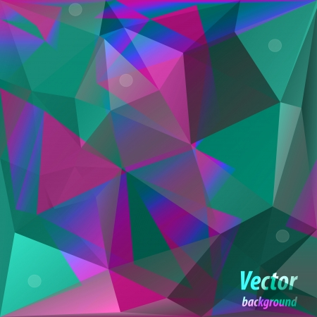 Vector triangle shiny vintage background Vector