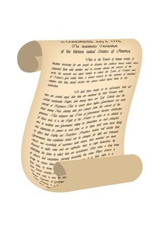 declaration: Old Paper  Vector illustration Illustration