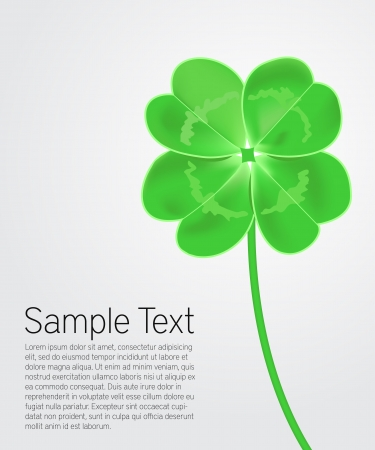 Saint Patrick s Day card Vector