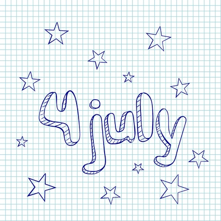 greating card: 4th of  july greating card Illustration