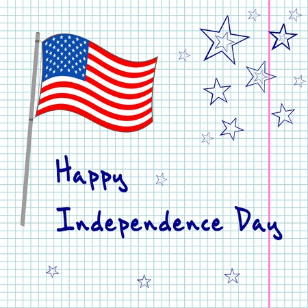 penman: 4th of  july greating card Illustration