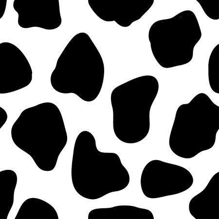 vaca: Impresi�n de la vaca Vectores