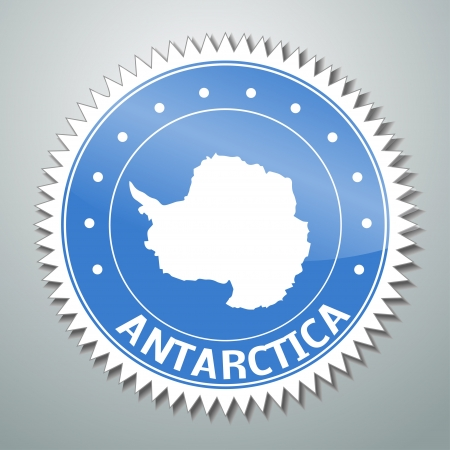 antarctica: flag label series - Antarctica Illustration