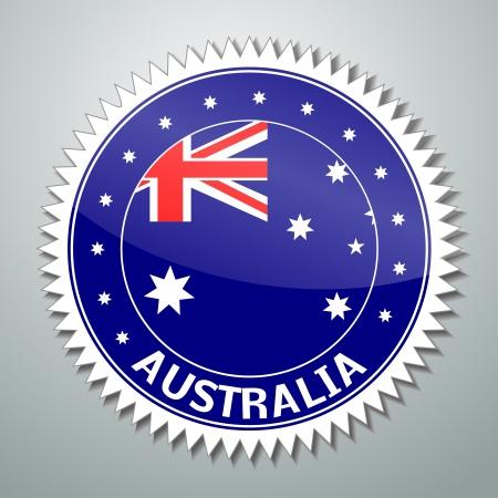 flag australia: Flag label series - Australia