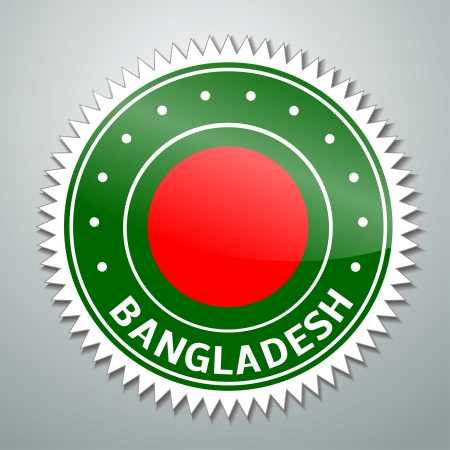 shiny buttons: Flag label series - Bangladesh