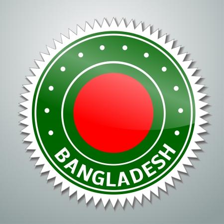 national emblem: Flag label series - Bangladesh