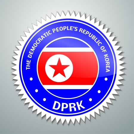 Flag label series - DPRK Vector