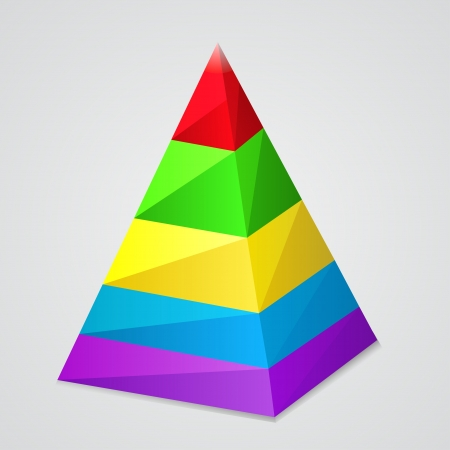 belonging: Infographic - 3D colorful pyramid Illustration