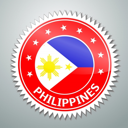 Flag label series - Philippines Illustration