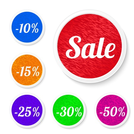 Promo sale stickers.  Stock Vector - 23097363