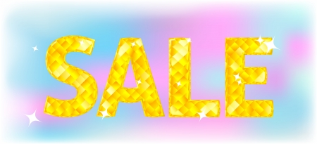 Vector sign of diamond word - Sale on colorful background Vector