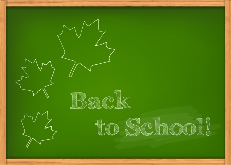Vector illustration of green class chalkboard with maples Vector