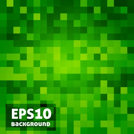 Green mosaic abstract background.