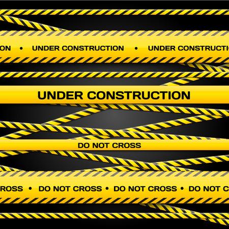 csi: Conjunto de Bajo l�neas de construcci�n en el fondo oscuro para el suyo banners y sitios web Vector