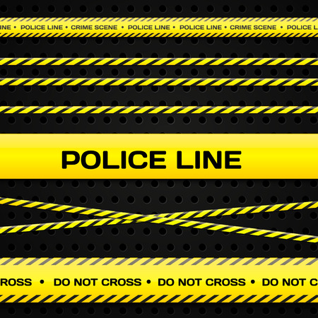 Police lines Vector