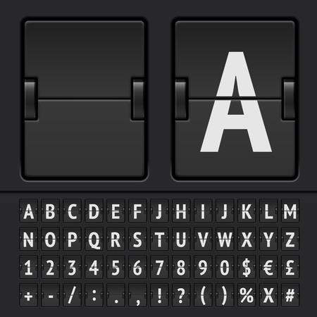 scorebord: Vector Countdown Timer en Scoreboard Numbers. Vector illustratie