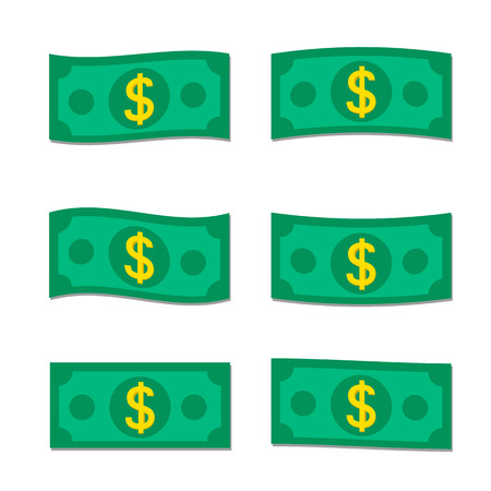 money icons: Set of vector flat money Icons