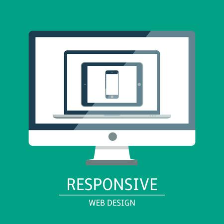 Vector illustration of concept responsive web design