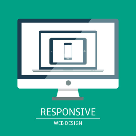 responsive web design: Vector illustration of concept responsive web design