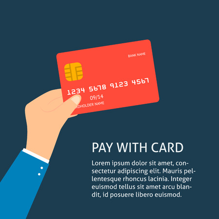 plastic card: Flat plastic credit card