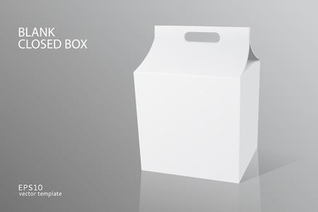 closed box: blank packing closed box  Illustration