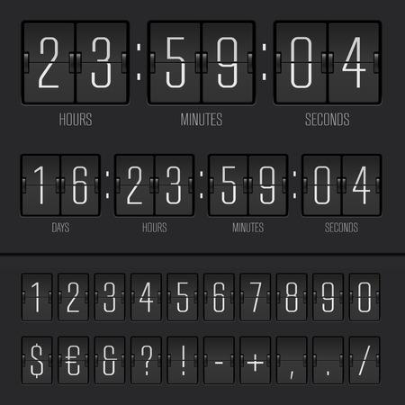 Vector illustration of countdown timer Illustration