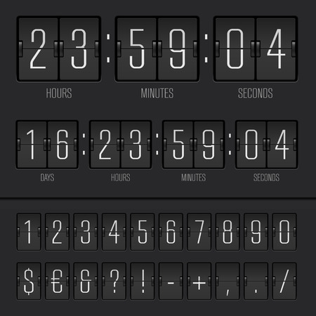 Vector illustration of countdown timer Çizim