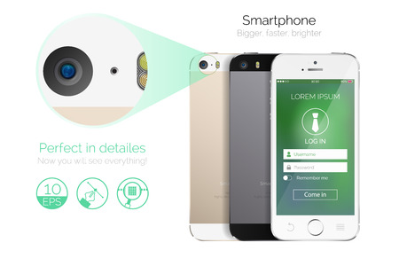 Vector highly detailed smartphone Vector