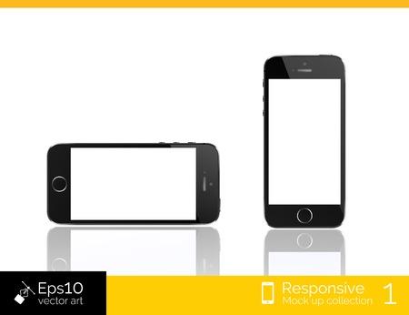 isolation: Modern smart phone isolation vector