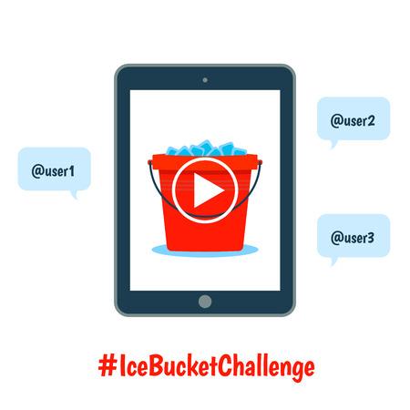 ice bucket challenge concept Illustration