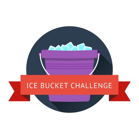 sclerosis: als ice bucket challenge concept Illustration