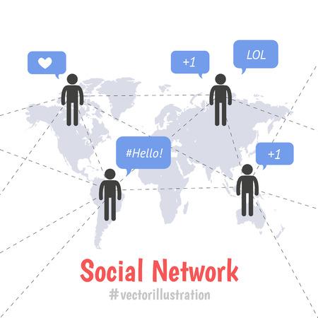 smm: Social network concept Illustration