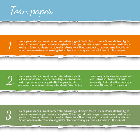 Torn paper banners Vector