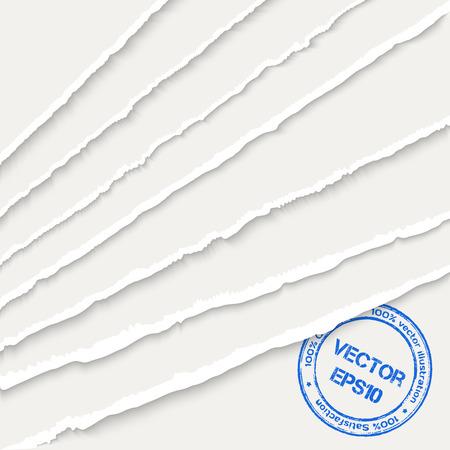 Torn paper sheets Stock Illustratie