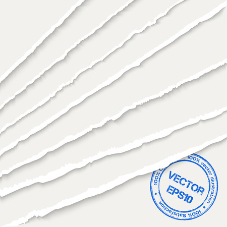 Torn paper sheets Vectores