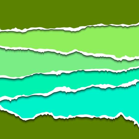 shredded: Torn paper pieces Illustration
