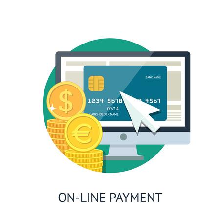 Le paiement en ligne Banque d'images - 33704655