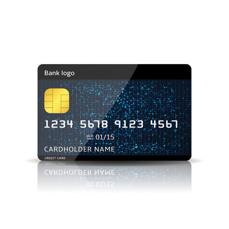 credit card payment: Vector credit card Illustration