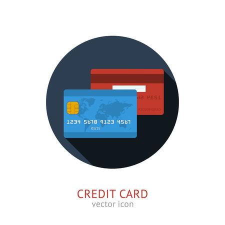 e wallet: Vector credit card Illustration