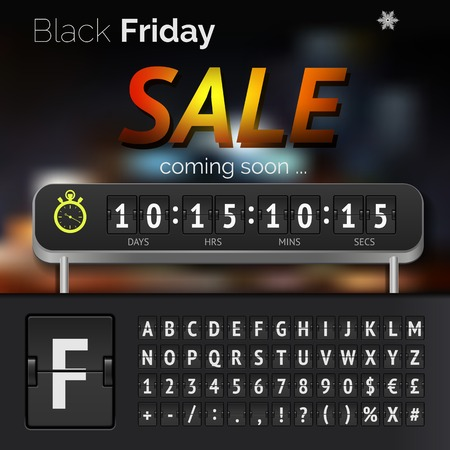 contagem regressiva: Black Friday sale countdown timer