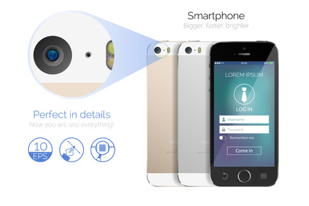 Vector highly detailed smartphone