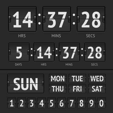 Analog black scoreboard Ilustrace