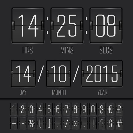 Analog black scoreboard digital week timer