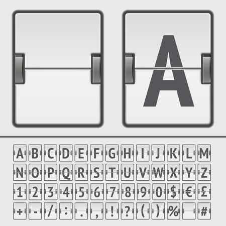 Vector scoreboard alphabet Çizim