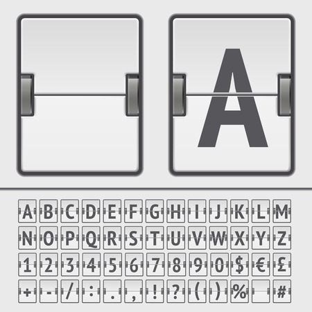 Vector scoreboard alphabet Stock Illustratie