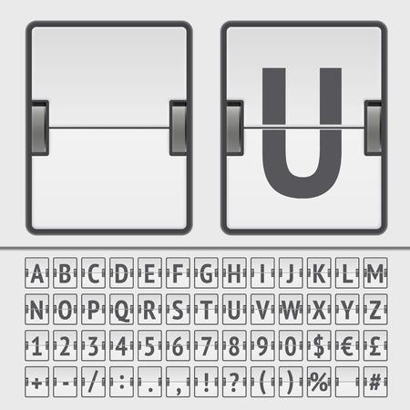 Vector scoreboard alphabet Vector