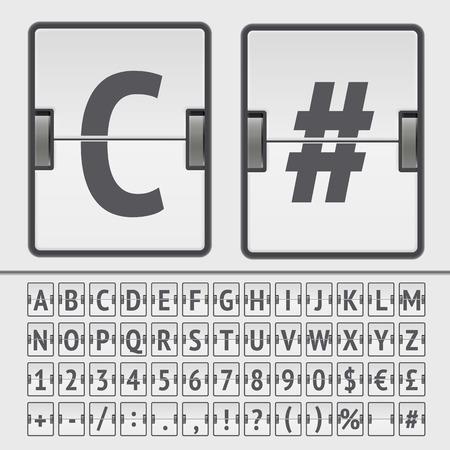 sec: Vector scoreboard alphabet Illustration