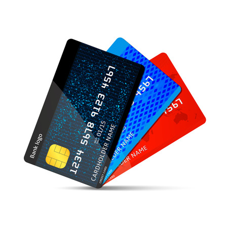 Vector credit card Stock Illustratie